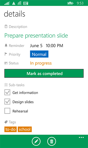 Add sub-tasks